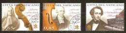 Vatican Vatikaanstad 2009 Yvertn° 1507-1509 (°) Oblitéré Used Cote 19,50 Euro Journée De La Musique - Vatican