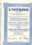 L HYDRO  HOTEL ET HYDROTHERAPIE - Wasser