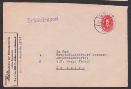 Akademie Der Wissenschaften Berlin, G. W. Leibnitz 24 Pfg. DDR 269, Berlin Behördenpost, Abs. Leibnitz-Kommission - DDR