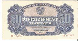 Poland 50 Zlotych 1944 - Polonia