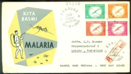 Indonesie 1960 Geregistreerde FDC Malaria - Indonesien