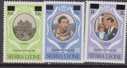 Sierra Leone Royal Wedding Diana Set MNH - Case Reali