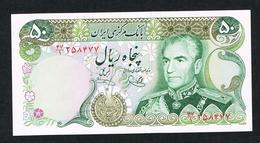 //  IRAN 50 RIALS  MOHAMMAD REZA PAHLAVI  1974/1979  NIEUW - Iran