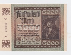 Billet De 5000 Mark Du 2-12-1922 Pick 81  Neuf - [ 2] 1871-1918 : Impero Tedesco