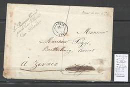 France - Lettre  Bastia - Franchise Du Procureur Général  Pour Zeraco - Marcophilie (Lettres)