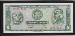 Pérou - 5 Soles De Oro - Pick N°99 - NEUF - Pérou