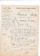 Courrier 1906 Horlogerie Bijouterie Maison Saïn, Portail Matheron, Rue Philonarde, Avignon - France