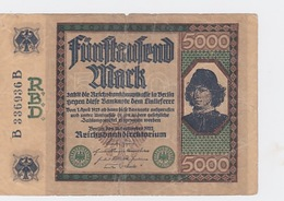 Billet De 5000 Mark Du 16-9-1922 Pick 77 - [ 2] 1871-1918 : Empire Allemand