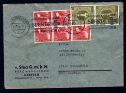 23.6.49 - 10-fach Frankatur Auf Brief Ab Düsseldorf Nach Bielefeld - Zone Anglo-Américaine