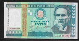 Pérou - 10000 Soles De Oro - Pick N°140 - NEUF - Peru