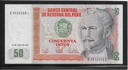 Pérou - 50 Intis - Pick N°131 - NEUF - Peru