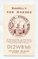 QSL RADIO AMATEUR CARD 1966 DL2WB/M1 SAN MARINO A18 - Radio Amateur