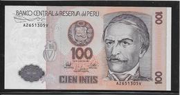 Pérou - 100 Intis - Pick N°133 - NEUF - Peru