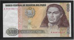 Pérou - 500 Intis - Pick N°134 - SUP - Peru