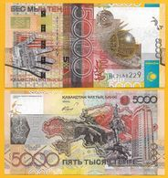 """Kazakhstan 5000 Tenge P-32a 2006 (ERROR: """"Banki"""" At Lower Right On Front Spelled With """"Қ"""") UNC - Kazachstan"""