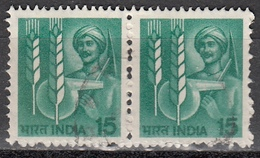 India, 1980 - 15p Agricultural Technology Coppia, Perf. 14 1,2 - Nr.838 Usato° - India
