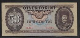 Hongrie - 50 Forint - Pick N°170d - SUP - Hongarije