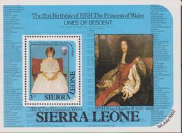 Sierra Leone  Diana Set MNH - Case Reali