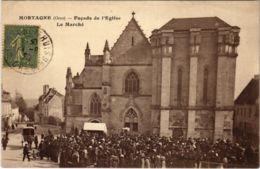 CPA Mortagne Orne - Facade De L'Eglise Le Marche (800268) - Mortagne Au Perche