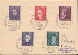 96-100 Kulturträger 1942 Satz-Brief SSt LEMBERG Behring Institut 10.-11.12.42 - Besetzungen 1938-45