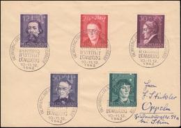 96-100 Kulturträger 1942 Satz-Brief SSt LEMBERG Behring Institut 10.-11.12.42 - Occupation 1938-45