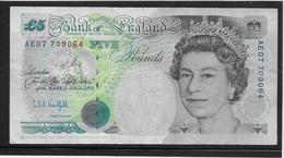 Grande Bretagne - 5 Pounds - Pick N°382b - TB - 1952-… : Elizabeth II