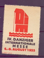 CINDERELLA ERINNOFILIA DANZIGER  INTERNATIONAL MESSE 1925 (GIUGN1900B88) - Erinnofilia