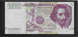 Italie - 50000 Lire - Pick N°116a - TTB - [ 2] 1946-… : République