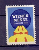 CINDERELLA ERINNOFILIA WEINER MESSE 1933 (GIUGN1900B89) - Erinnofilia