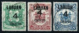 Labuan (Británico) Nº 92/4 USADO - Gran Bretaña (antiguas Colonias Y Protectorados)