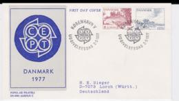 Denmark 1977 FDC Europa CEPT (T1-12) - Europa-CEPT