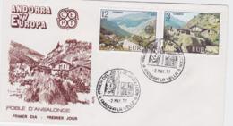 Spanish Andorra 1977 FDC Europa CEPT (T1-12) - Europa-CEPT