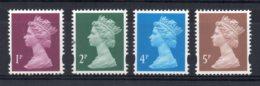 Great Britain - 1993/95 - Elliptical Perf Machins (4 Values) - MNH - Nuovi