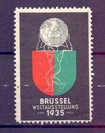 CINDERELLA BRUXELLES WELTAUSSTELLUNG 1935 (GIUGN1900B96) - Erinnofilia