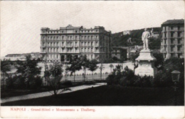 CPA Napoli Grand Hotel E Monumento A Thalberg ITALY (800823) - Napoli (Naples)