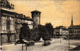 CPA Torino Piazza Castello Palazza Madama ITALY (800831) - Italie