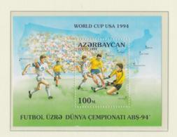 Azerbaydjan 1994 World Cup FIFA World Cup Souvenir Sheet MNH/** (H54) - Fußball-Weltmeisterschaft