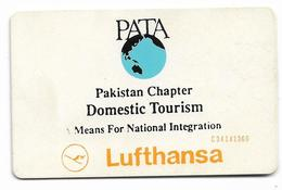 PAKISTAN USED CHIP PHONECARD 75 UNITS LUFTHANSA - Pakistan
