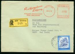 FR Austria Registered Cover With Meter Cancel | Salzburg 28.12.1978 (Raiffeisenkasse Liefering), Freistempel - 1971-80 Briefe U. Dokumente