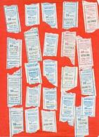Kazakhstan 2012,15,17,18,19. City Karaganda. One Way Tickets For Bus. Lot Of 23 Tickets. - Season Ticket