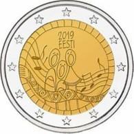Estland  2019     2 Euro Commemo   Song Festival      UNC Uit De Rol  UNC Du Rouleaux  !! - Estonie