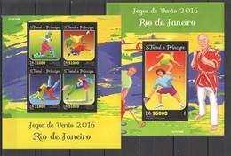 ST1567 2016 S. TOME E PRINCIPE OLYMPIC GAMES RIO DE JANEIRO 2016 1KB+1BL MNH - Estate 2016: Rio De Janeiro