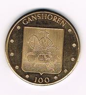 //  GANSHOREN  100 Fr. -  1982 - 2.000 EX. - Jetons De Communes