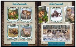 Sierra Leone 2016 Fauna Extinct Animals Klb+s/s MNH - Postzegels