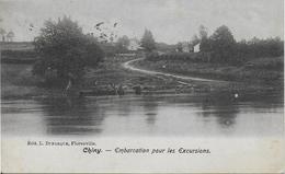 CHINY ..-- Embarcation Pour Les Excursions . 1904 Vers SEDAN ( Melle Marthe GEORGE ) . Voir Verso . - Chiny
