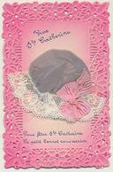 Ste Catherine - Bonnet Tissu Et Dentelle - Sainte-Catherine