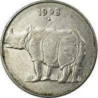 Monnaie, INDIA-REPUBLIC, 25 Paise, 1993, TTB, Stainless Steel, KM:54 - Inde