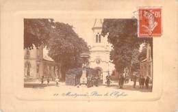 91 - MONTGERON : Place De L'Eglise - CPA Avec Cadre En Relief - Essonne - Montgeron