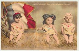 Le Vrai Bonheur : être à L'abri Du Drapeau Français - Militaire/patriotique -illustrateur Morinet - Patriotic