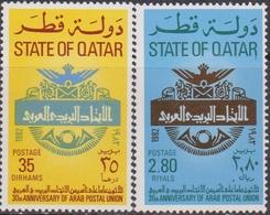 Qatar 1982 ** Mi.840/41 Posta Araba Unione Arab Postal Unione - UPU (Union Postale Universelle)